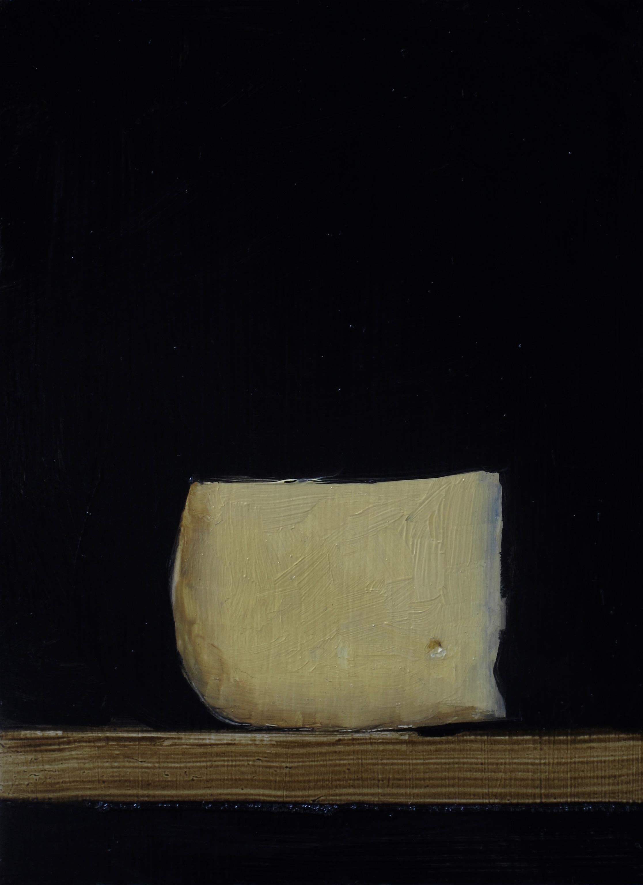 Stilleben Olja på pannå 16 x 22 cm.